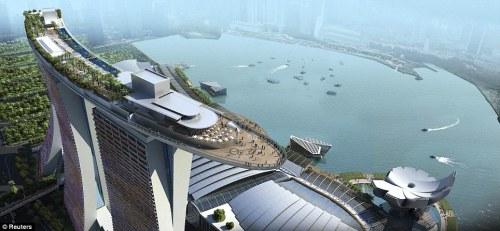 Infinity pool, skypark in Singapore