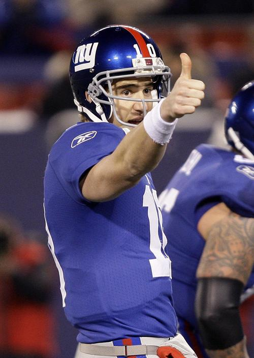 Eli Manning 2010 New York Giants