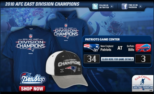 Patriots 2010 AFC East Championship Gear