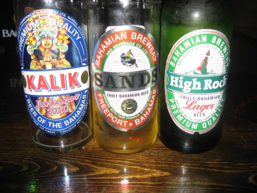 Bahamian Beer Kalik, Sands, High Rock