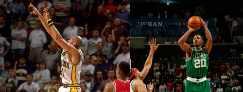 Ray Allen or Reggie Miller